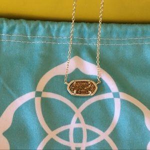 Kendra Scott Elisa Pendant Necklace Gold Drusy